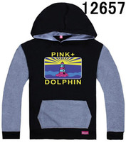 Wholesale Good Quality Hoodies For Men - Black-grey Pink Dolphin Hoodies and Sweatshirts For Men size S-XXXL popular street fashion hoody Pullover good quality
