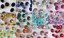 Wholesale Table Decoration Confetti - 10000pcs 4mm Mix color Acrylic Diamond Confetti Wedding Party Favor Table Scatters Crystal Decoration