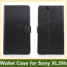 Wholesale Xperia Z Leather - Wholesale New PU Leather Wallet Case for Sony XL39h(Xperia Z Ultra) Flip Cover Case for Sony Xperia Z Ultra XL39h Free Shipping