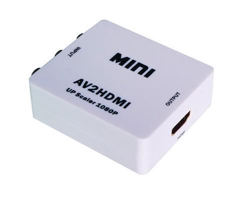 Mini adaptador de video convertidor RCA AV CVBS a HDMI 720P / 1080P para DVD / TV