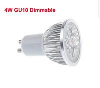 диммер оптовых-4W GU10 Светодиодные затемняемые прожекторы No 4x3W Real 4x1W GU 10 / E27 Встраиваемый светильник 4 Вт Точечный светильник CE ROSH WW / CW с 2-летней гарантией 110 / 220В
