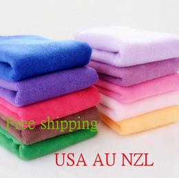 Asciugamano da spiaggia in microfibra con teli morbidi in microfibra da 50 pezzi 30 * 70 cm Asciugamani da bagno asciugamano in spugna da bagno Yoga Asciugamano USA AU NZL da asciugamani da spiaggia fornitori