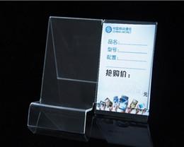 caja de luz de aluminio led Rebajas Nuevo estilo de moda claro acrílico móvil soporte de exhibición del teléfono celular bastidores 50 unids