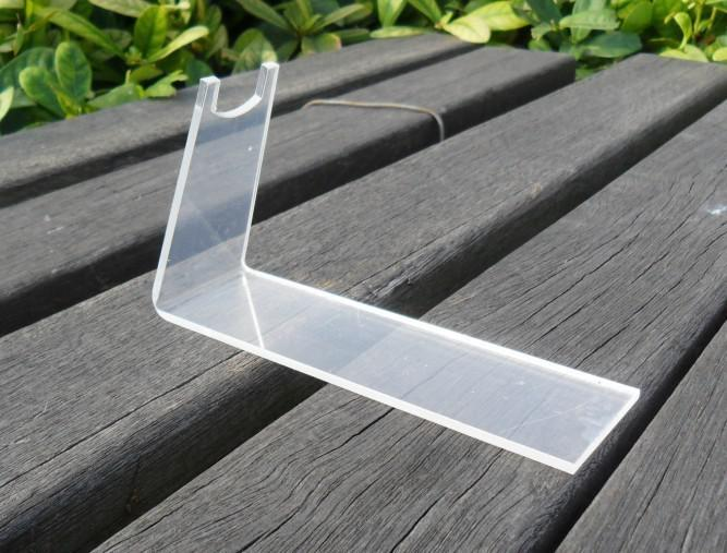 Clear acrylic plexiglass pistols holder/acrylic gun display stand holder