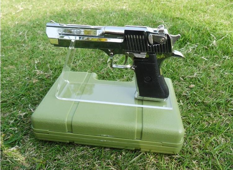 Envío Gratis 5 UNIDS Tamaño más grande Claro Pistolas de acrílico sostenedor del soporte de la exhibición de la exhibición de la exhibición del soporte del arma soporte de escritorio