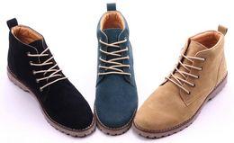 Wholesale short lace up boots - new style men shoes fashion men short boots business shoes size: 39-44