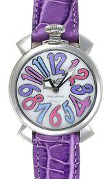 Wholesale Gaga Watches Italy - new Classic brand Lady Luxury Watch designer Women Quartz Sport GaGa MILANO ITALY purple leather band Fashion womens casual Wrist watches