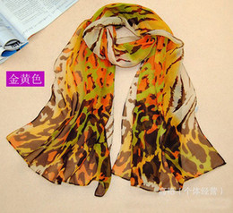 Wholesale Camouflage Chiffon Scarf - Fashion New Scarves For Women Lady Elegant Camouflage Leopard Scarf 6 Colors Mixed 10 Pcs Lot