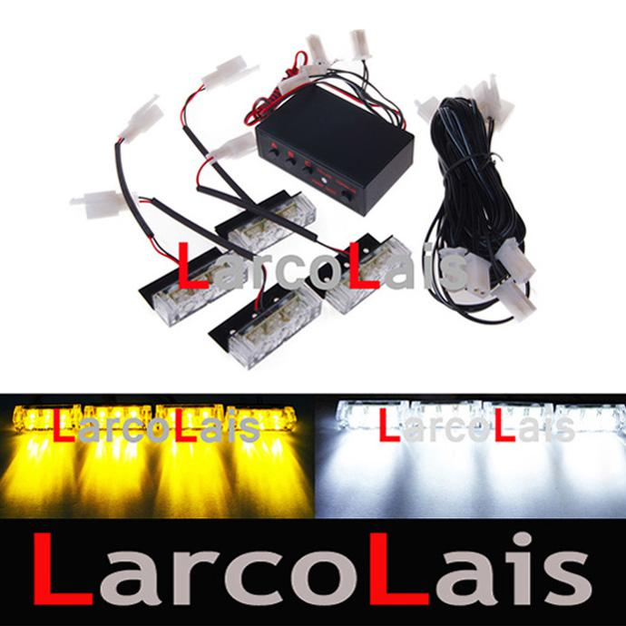 New 4x3 Led Strobe Flashing Lights Grille Emergency White Amber Specify  Color By Comment Dlcl8610 Strobe Light Car Strobe Light For Car From  Larcolais, ...