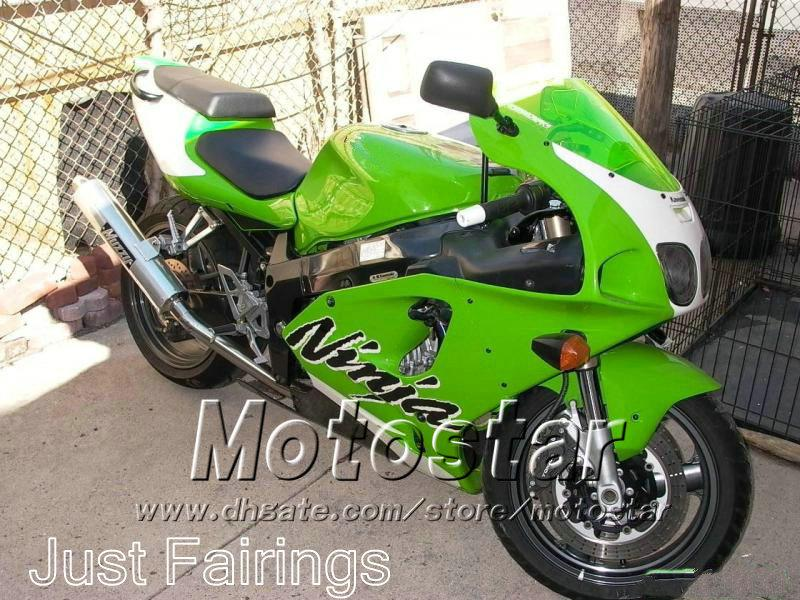 ABS high quality fairings kit for KAWASAKI Ninja 1996 - 2003 ZX7R ZX-7R ZX 7R 96-01 02 03 full motobike set black green