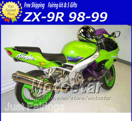 $enCountryForm.capitalKeyWord Canada - ABS black green motorcycle parts fairings for Kawasaki Ninja ZX-9R 1998 ZX9R 98 99 ZX 9R 1999 ABS plastic body fairiing kit