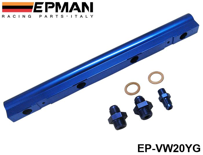 EPMAN High Flow Fuel Rail For VW Audi 20V 1.8T Turbo blue NEW Have In Stock EP-VW20YG