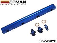 vw yakıt toptan satış-EPMAN VW Audi Için Yüksek Akış Yakıt Raylı 20 V 1.8 T Turbo mavi YENI Stokta Var EP-VW20YG