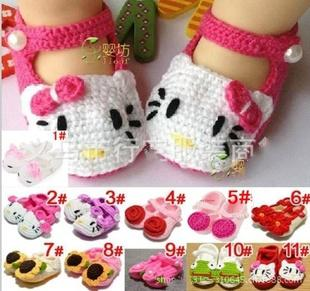 2014 flower girl Crochet shoes Toddler Shoes Handmade infant Shoes baby First walker shoes 11 colors