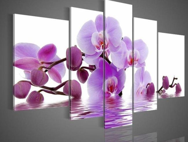 Famous Online Cheap The Orchid Flower Oil Painting On Canvas Handpainted  SC67