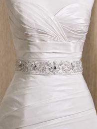 Wholesale Glamorous Wedding Dress Belts - Wholesale - Glamorous Dazzing Exqusite Crystals Beaded wedding dress White Ivory belt bridal dress sashes wedding accessory