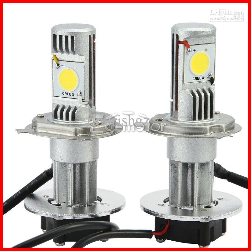 2 Sets H4 50W CREE LED Headlight High/Low CXA1512 COB 1800LM Xenon White 6K 12/24V Car Truck Universal H13/9004/9007 H/L H7 H1 H3 H11 9005/6