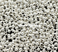 Wholesale Silver Smooth Bead Spacers - 3000pcs lot=1packing =1set Silver Plated Smooth Round Spacers Beads 2mm