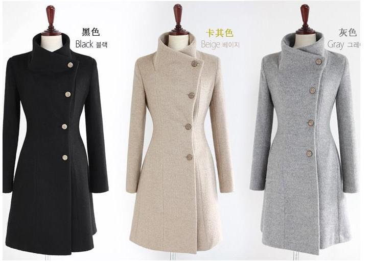 Hot New WOOL COATS Slim Coat Fashion Plus Size Clothing Winter Coat For Women Ladies Coats Windbreaker Outwear Overcoats Christmas Gift DZ8