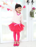 Wholesale Girl Red Tights Tutu - Wholesale-freeshipping girls red leggings pants tights children's pants candy underpants skirt pant ball TUTU skirt trousers -SH288H