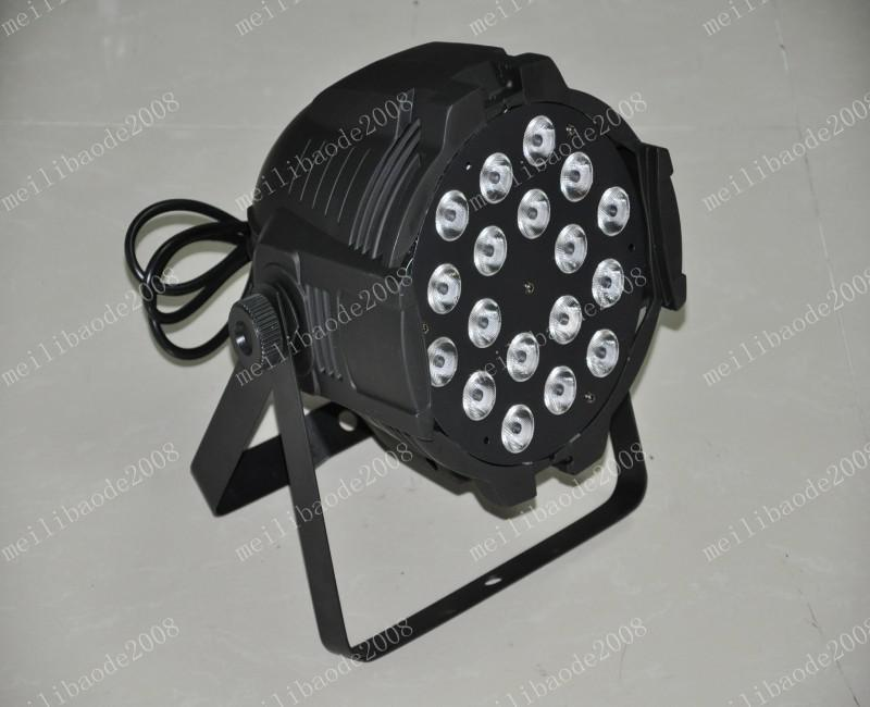 Gratis verzending Hot Selling Par 64 LED PAR LICHT 18 STKS * 10WATTS 4IN1 QUAD COLOR RGB LED PAR CAN DMX 8 Kanalen Beste prijs MyY5199