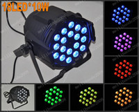 Wholesale 4in1 Led 64 - free shipping Hot Selling Par 64 LED PAR Light 18pcs *10watts (4in1) Quad Color RGB LED Par Can DMX 8 Channels BEST price MYY5199