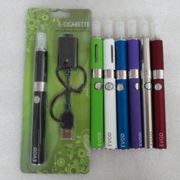 Wholesale Evod Cig Starter Kit - EGO-EVOD starter kit E cig Blister Card With USB Rechargable EVOD Battery 650mAh 900mAh 1100mAh MT3 Clearomizer Assorted Color