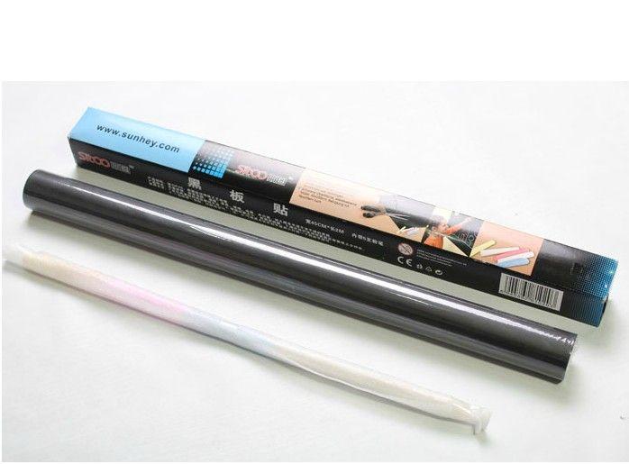 Accueil bâton Tableau noir Autocollant Mural Decal Chalkboard Peel bâton sur papier peint couleur Noir Taille: 45x200cm par DHL Livraison gratuite
