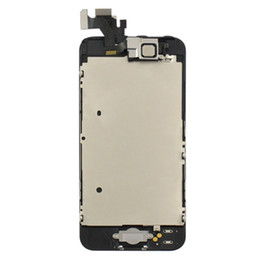 Wholesale Iphone5 Glass Lcd - For iPhone5 Full Glass Lens Cover Lcd and Digitizer Screen Replacement Assembly for iPhone 5 5G 5th Black White FREE SHIPPING
