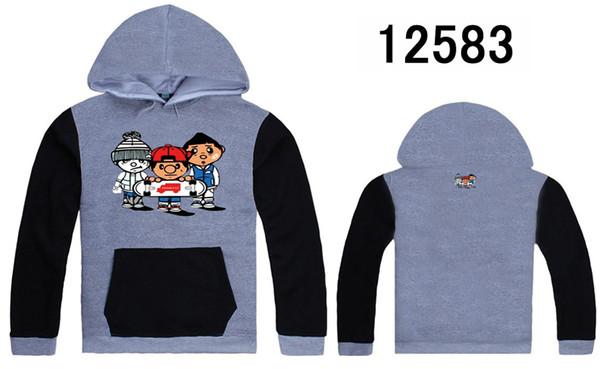 Мода бесплатная доставка Trukfit толстовки и толстовки для мужчин серо-черный Мужские толстовки пуловер с шляпы хип-хоп одежда