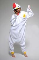 inek kostümü toptan satış-NEW.Anime Kigurumi Pijama Cosplay Kostüm unisex Onesie Elbise / COW / Zürafa / Civciv!