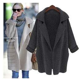 Wholesale Korean Cardigans Women - New South Korean Female long leisure loose knitting cardigan sweater