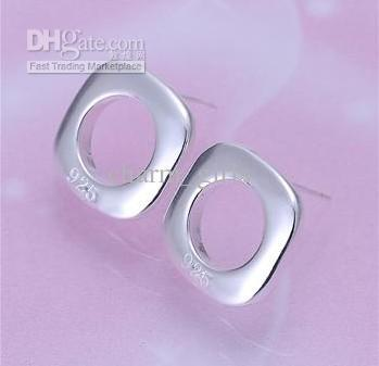 925 silver plated earrings Fashion 28 style mixed