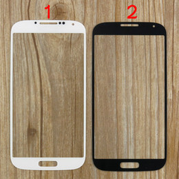 Wholesale replacement glass galaxy s4 - S4 i9500 Outer Front Glass Lens Screen Replacement Part Digitizer Touch Screen Cover for Samsung Galaxy S4 i9500 i9505 i337 Black White