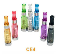 Vente en gros - 7-Colors 100PCS EGO CE4 Clearomizer 1.6ml Atomizer Cartomizer pour EGO CE4 Cigarette électronique E-Cigarette