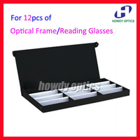 Wholesale Eyewear Tray - Retail 12A Eyeglass Eyewear Optical Frames Reading Glasses Display Case Box Sample Tray