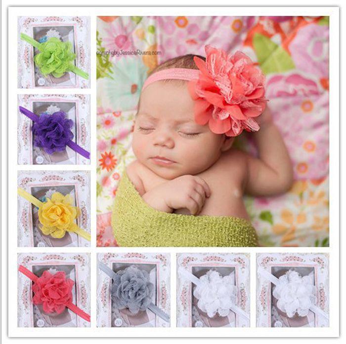 74355aaa0ca Baby Mesh Flower Headbands Girl Elastic Headbands Children Hair Accessories  Big Flower Hairbands Kids Hair Ornaments Photography Props Baby Headbands  Hair ...