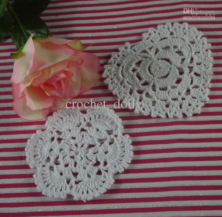 Handmade Crochet Placemats doily Cup Lace Pad mats 2 Style coasters 620Piece 10-12cm, EMS Free Shipping Wholesale