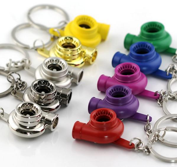 Kreative Hot Spinning Turbo Turbine Turbolader Schlüsselanhänger Ringschlüssel Für Schlüsselanhänger