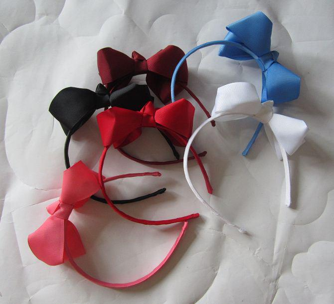 卸売 - 女の赤ちゃんの髪の弓が付いているヘッドバンドヘアバンドのヘアボーのヘッドバンド/ ot
