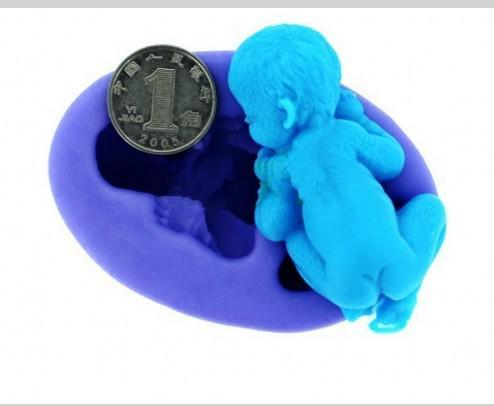 Creative 3D Silicone Sleeping Baby Chocolate Molds Polymer Clay Handmade Soap Mold Fondant Cake Tools