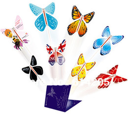 Wholesale Christmas Wedding Suits - magic surprising flying butterfly especially suit card or wedding invitation card-Free shipping