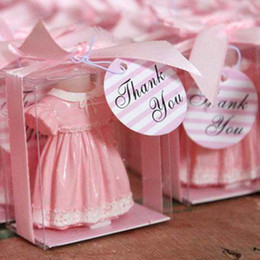 12 Pink Skirt Shirt Baby Candle Shower Favor Gift Favors Birthday Party or Blue color on Sale