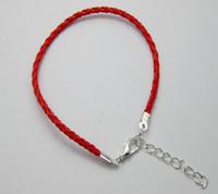 Wholesale braided red string bracelet for sale - Hot Red Color Leatheroid Braided String Bracelets cm Z0400