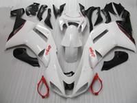 Wholesale Kawasaki Zx6r White Fairing - High quality white Bodywork fairing kit FOR kawasaki ninja ZX6R fairings ZX-6R 636 07 08 ZX 6R ZX-6 2007 2008 kits
