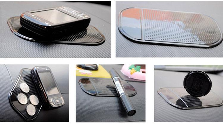 Non Slip Painel Do Carro Almofada Pegajosa Almofada Pegajosa Re-Utilizável Lavável Anti Slip Mat não slip pad para o painel do carro telefone Inteligente