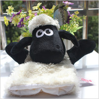 Wholesale Shaun Sheep Gifts - New Arrival Shaun Sheep Cute Cartoon Plush Adult Hand Finger Glove Puppet Dolls Toy Best Christmas Education Gift For Kids Length 25CM