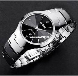 Wholesale Dom Tungsten - DOM Brand Sapphire Dial Real Tungsten Steel Watch 200 Meter Waterproof Never Fade Really High Quality Dress Man & Woman Watches