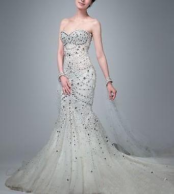 Wholesale Wedding Dress, Diamond, Bling, Mermaid, Sweetheart, Long ...