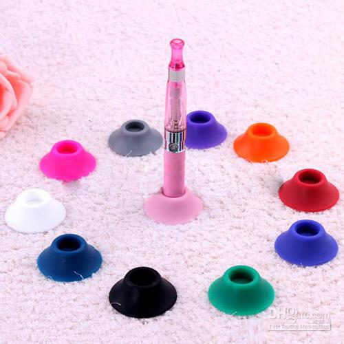 Cheapest EGO Batteries Silicon Base Holder Sucker for Electronic Cigarette Battery EGO-T EGO-C Holders Stands E-cigare battery base
